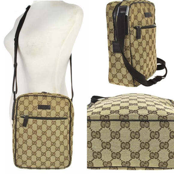 Gucci Other - Gucci brown monogram canvas crossbody bag